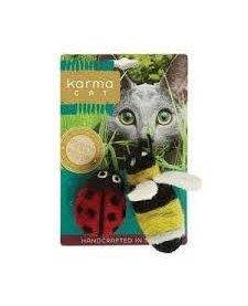 Karma Cat - Felt Ladybug & Bee