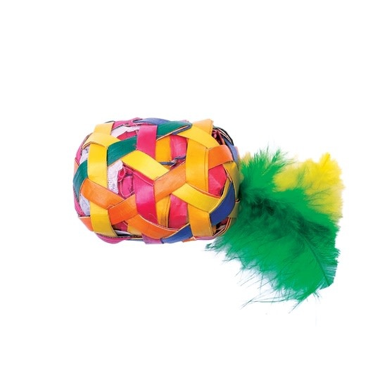 Cat Love Terra Toy SM Cylinder w/ Feathers