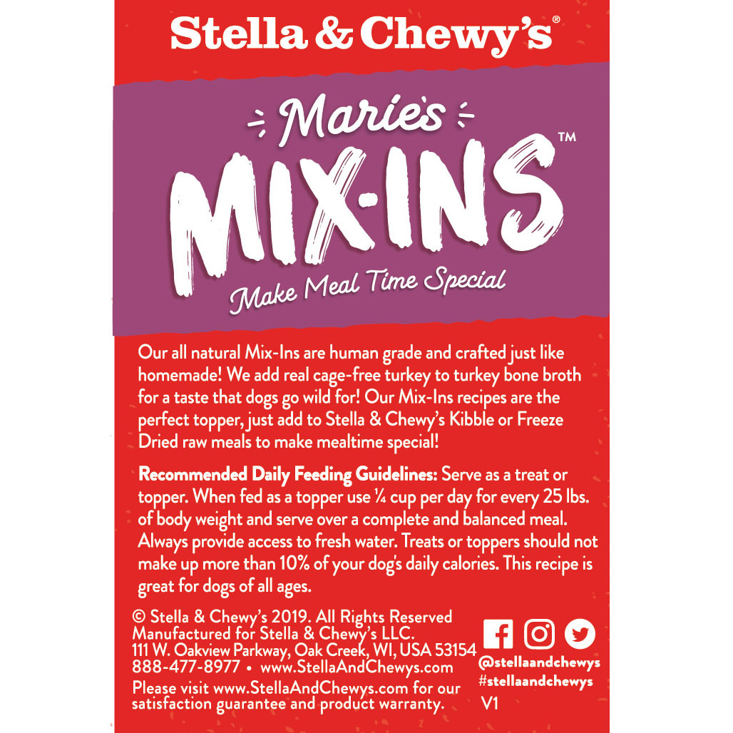 Stella & Chewy's Marie's Mix-Ins Turkey and Pumpkin 5.5 oz