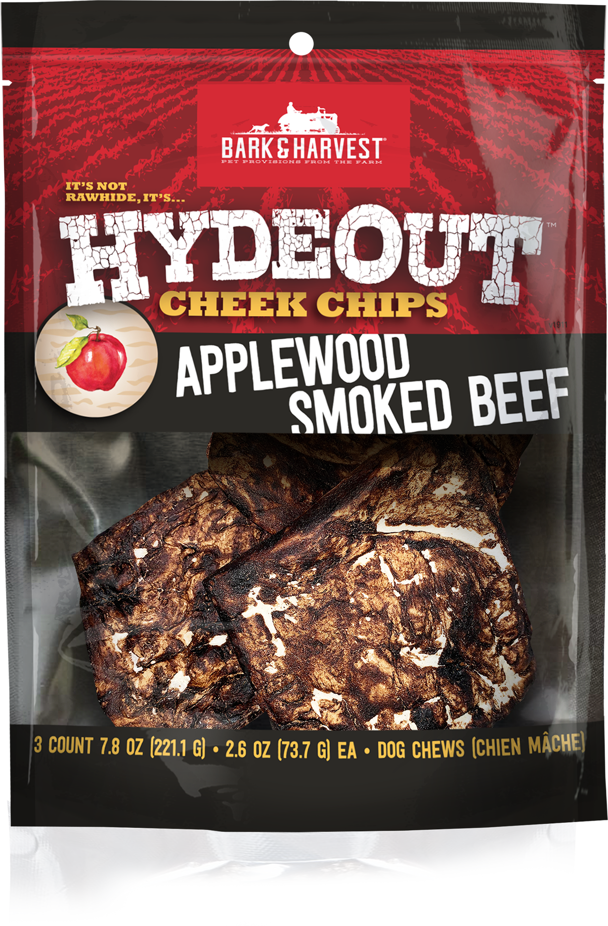 Bark & Harvest Bark & Harvest Cheek Chips Applewood 7.8 oz