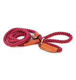 ALC Natural Cotton Rope Leash Maroon