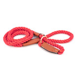 ALC Natural Cotton Rope Leash Red