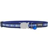"RedDingo RedDingo Blue Fish Bone Collar - 8""-13"""