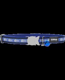 "RedDingo Blue Fish Bone Collar - 8""-13"""