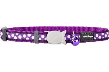 """RedDingo RedDingo Purple Spots Collar - 8""""-13"""""""