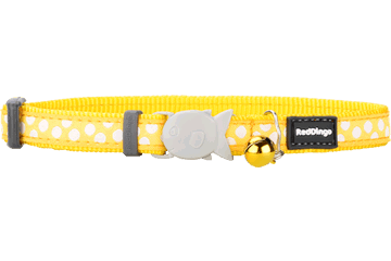 "RedDingo RedDingo Yellow Spots Collar - 8""-13"""
