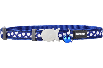 "RedDingo RedDingo Blue Spots Collar - 8""-13"""