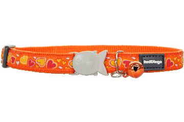 "RedDingo RedDingo Orange Breezy Love Collar - 8""-13"""