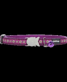 """RedDingo Purple Daisy Chain Collar - 8""""-13"""""""