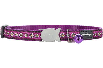 "RedDingo RedDingo Purple Daisy Chain Collar - 8""-13"""
