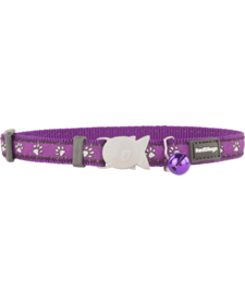 "RedDingo Purple Desert Paws Collar - 8""-13"""