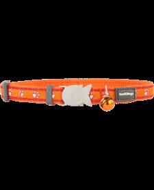 "RedDingo Orange Desert Paws Collar - 8""-13"""