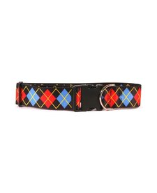 Yellow Dog Argyle Collar-Large