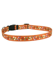 Yellow Dog Cat Collar Festive Butterfly-Orange