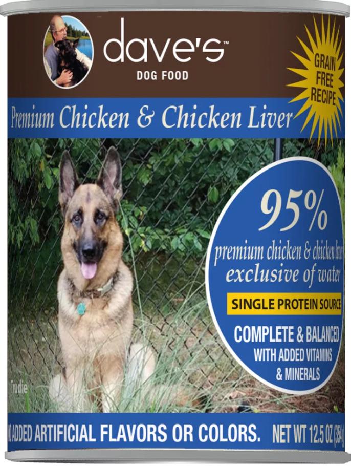 Dave's Dave's Chicken & Chicken Liver 12.5 oz