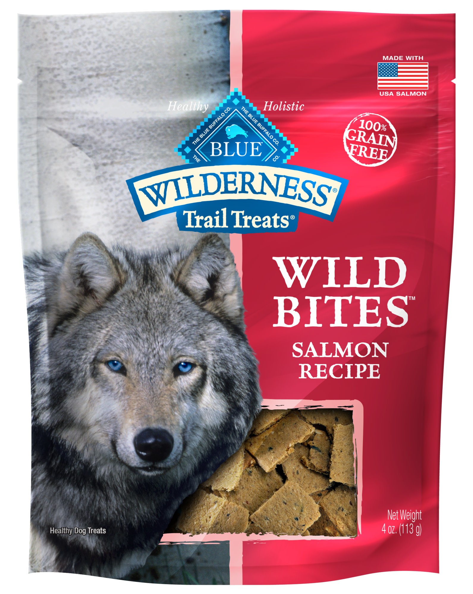 Blue Buffalo Blue Wilderness Wild Bites Salmon 4 oz