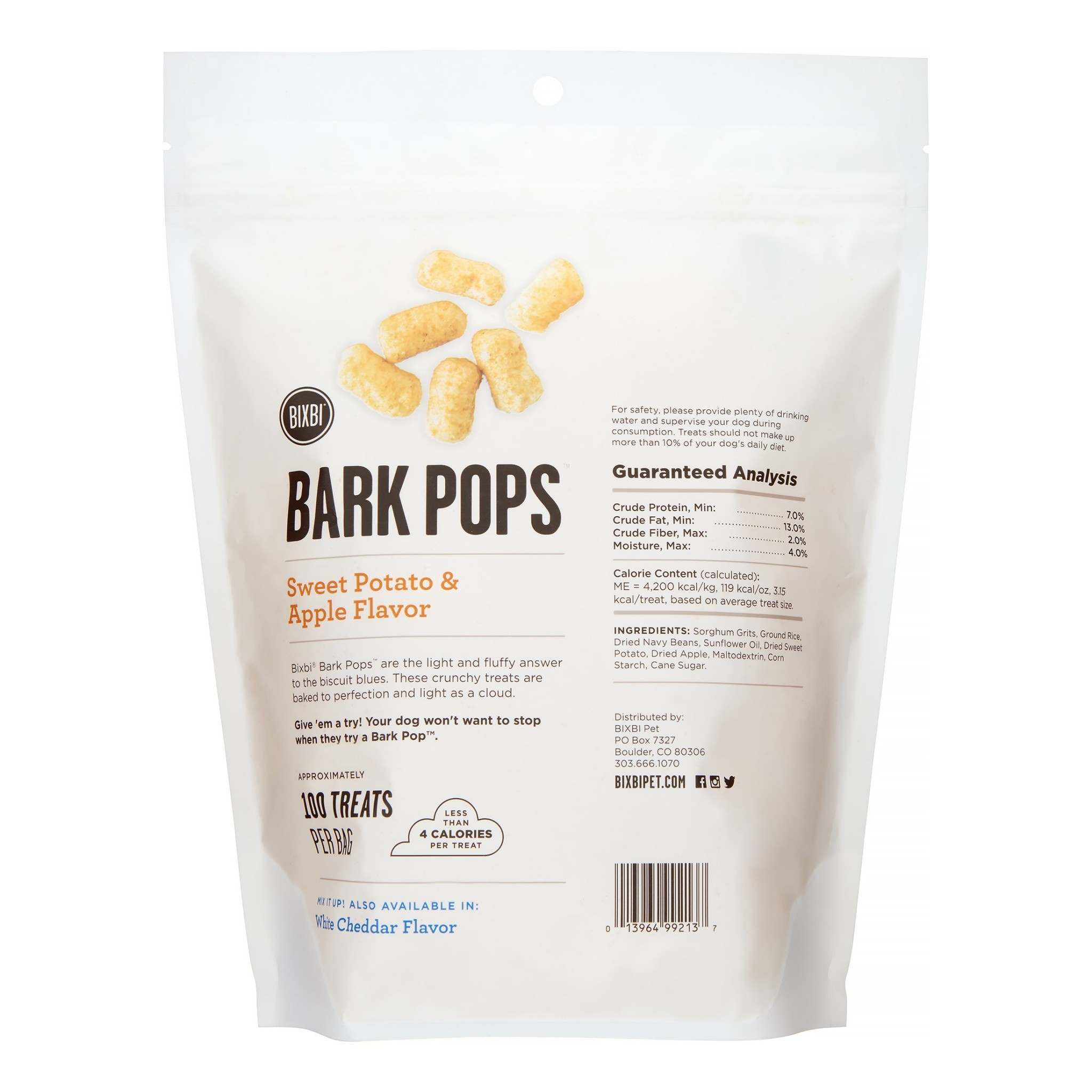 Bixbi Bixbi BarkPops Sw Potato/Apple 4 oz
