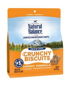 Natural Balance GF Crunchy Biscuits Turkey 10 oz