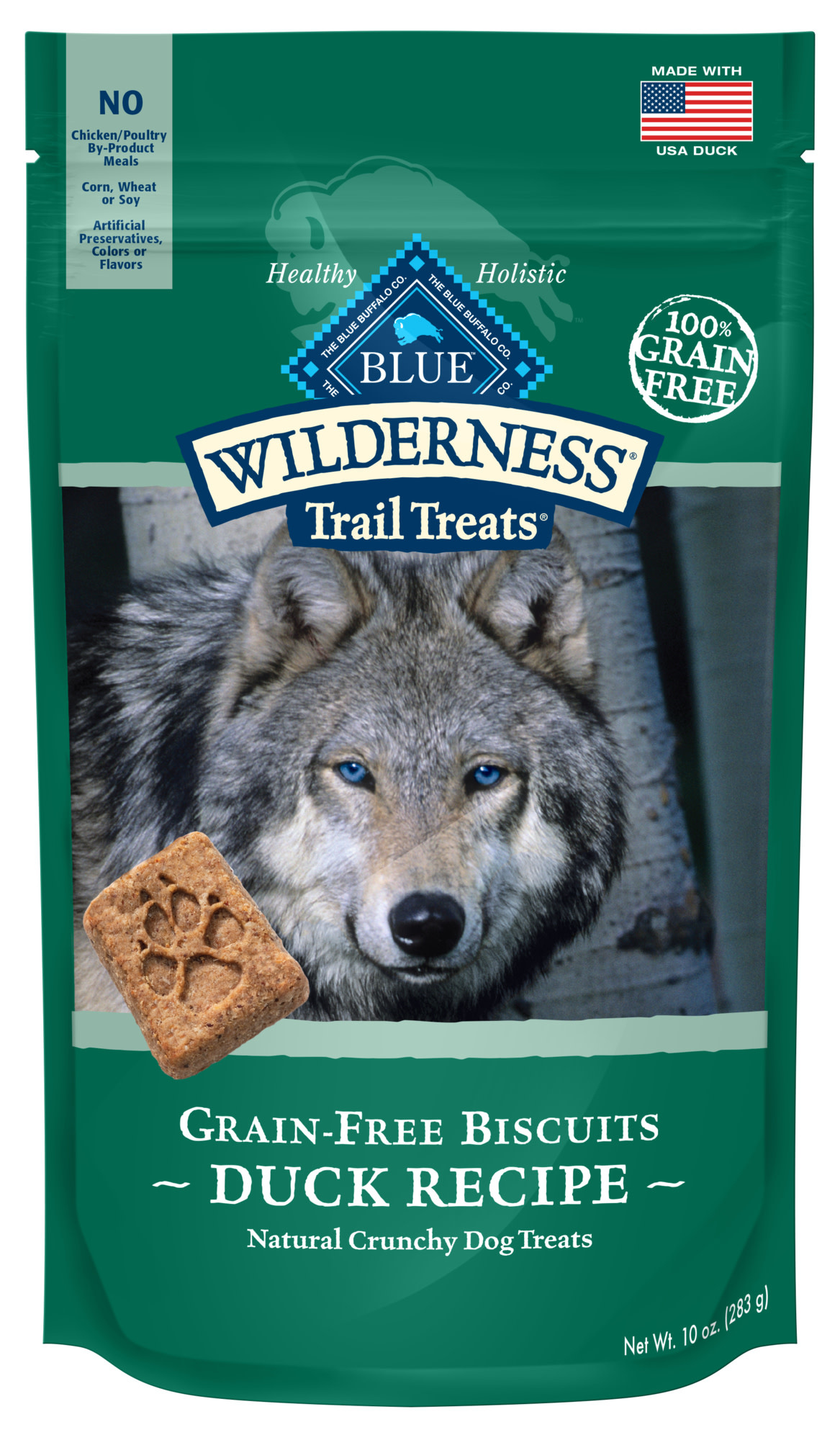 Blue Buffalo Blue Wild Duck Biscuits 10 oz