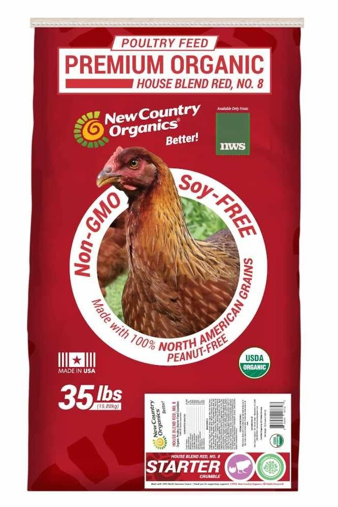 NWS Red Organic Starter Crumbles 35 lb