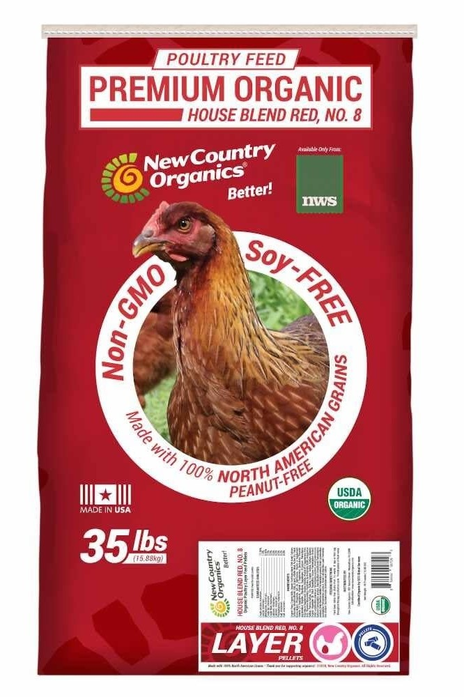 NWS Red Organic Layer Pellets 35 lb