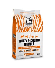 SquarePet Turkey & Chicken Formula Dry Cat Food 4.4 lb