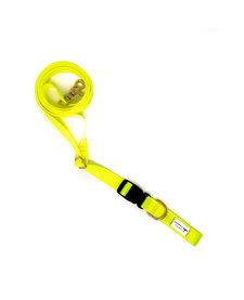 Lucky + Dog Adjustable Leash Hot Yellow
