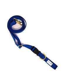 Lucky + Dog Adjustable Leash Royal Blue
