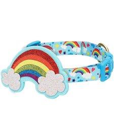Rainbow Clouds Collar-Medium