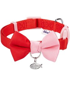 Blueberry Timeless Bowtie Cat Collar Scarlet
