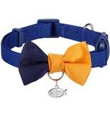 Blueberry Color Block Collar Blue