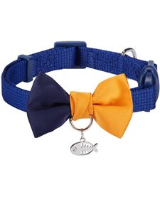 Color Block Collar Blue