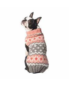 Chilly Dog Peach Fairisle Sweater MD