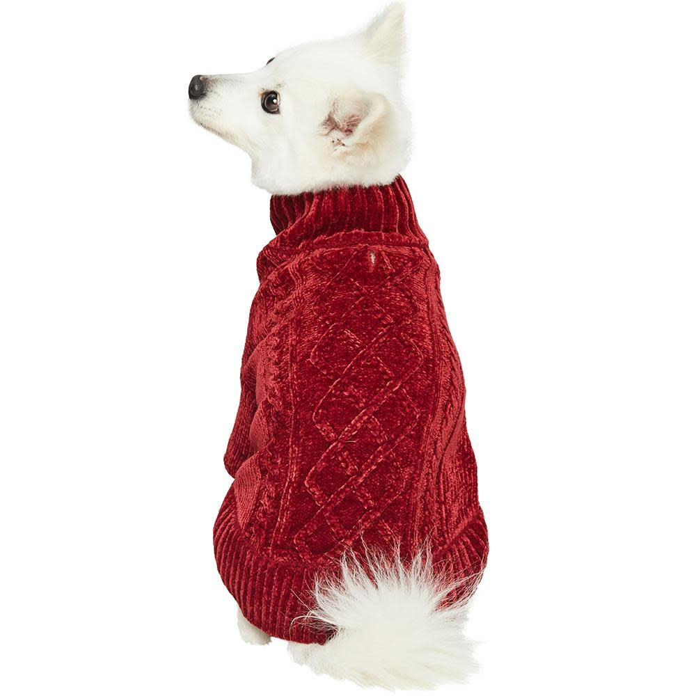 Dogs & Cat Cozy Sweater Red 18