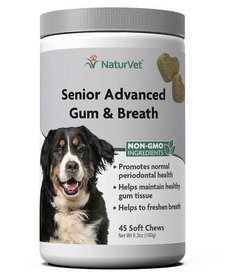 NaturVet Senior Gum & Breath 45 ct