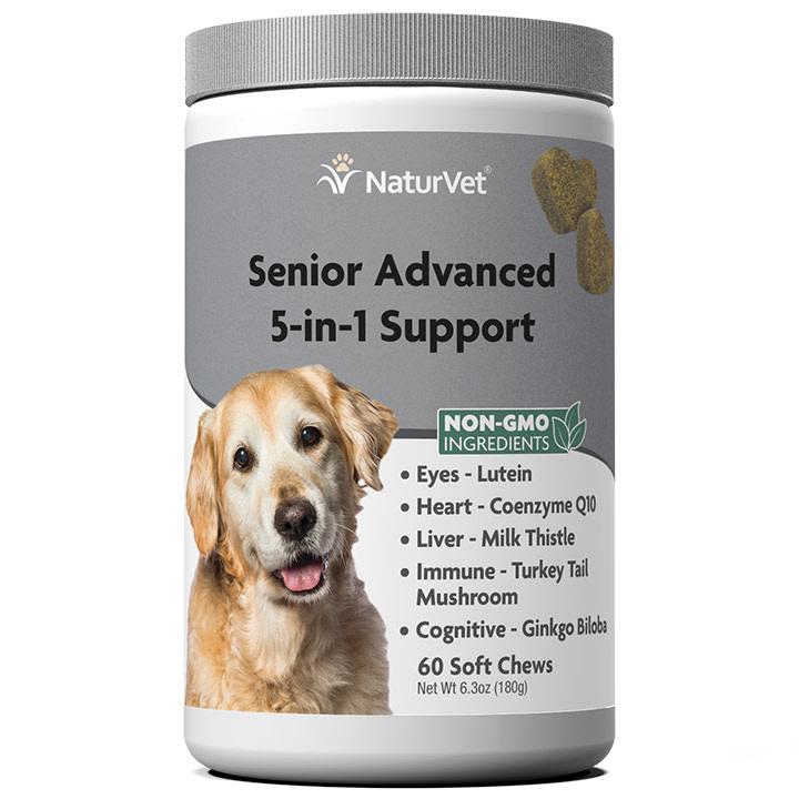 NaturVet Senior 5-in-1 Support 60 ct