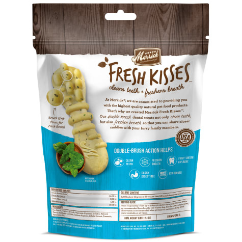 Merrick Fresh Kisses Mint Strips Brush 6 oz Extra Small