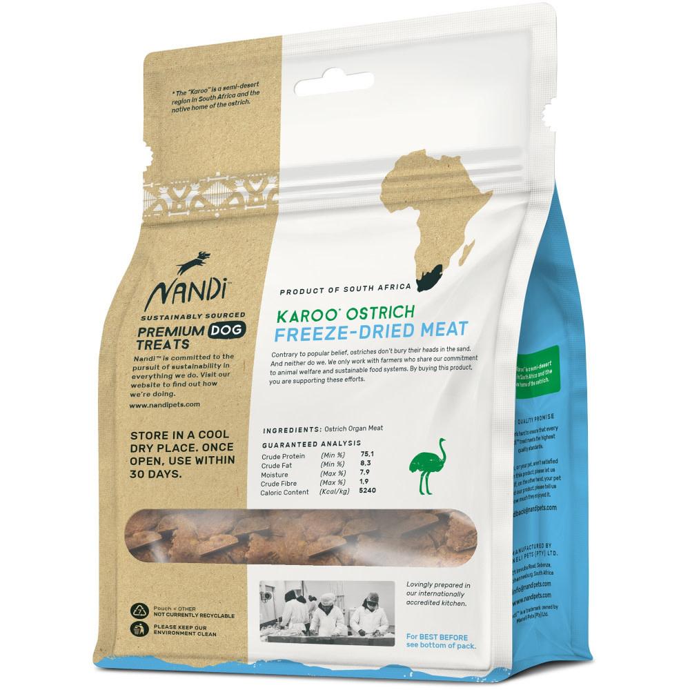 Nandi Nandi Freeze-Dried Karoo Ostrich 2oz