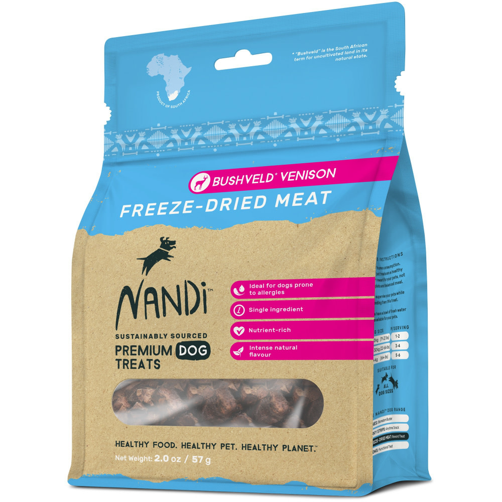 Nandi Nandi Freeze-Dried Bushveld Venison 2oz
