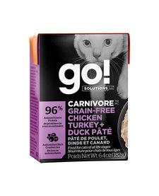 Go! Cat Chicken, Turkey & Duck Tetra Pak 6.4oz