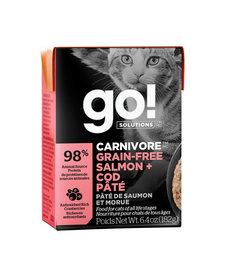 Go! Cat Salmon & Cod Tetra Pak 6.4oz