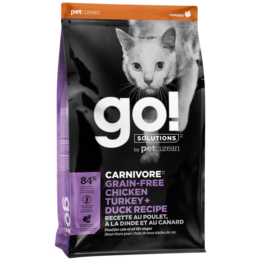 Petcurean Go! Cat Carnivore Chicken, Turkey & Duck 3 lb