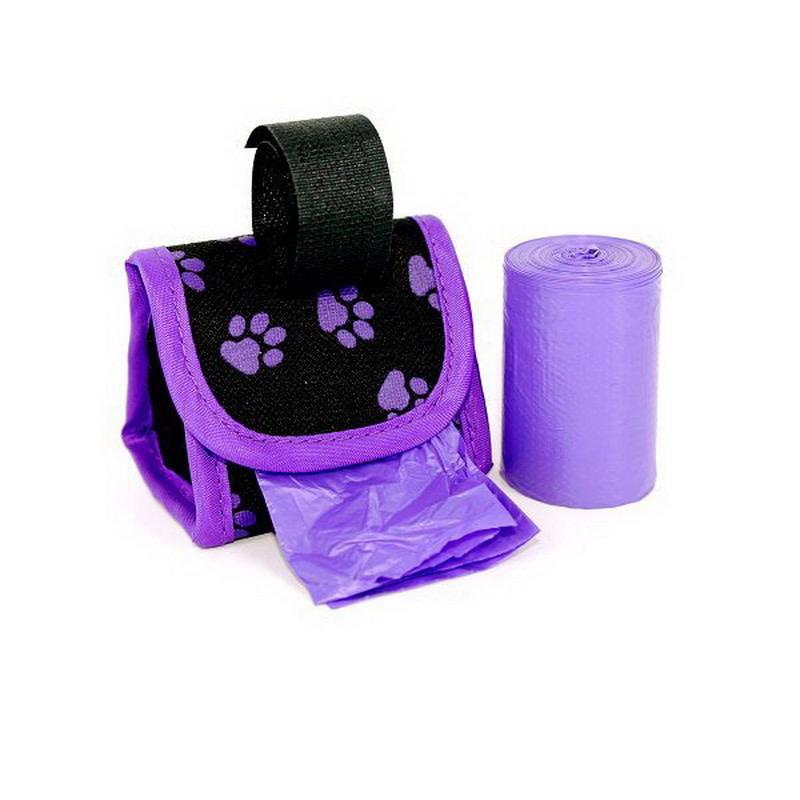Doggie Walk Bag Purple 6 pk