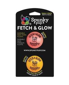 Spunky Pup Fetch & Glow Ball 2pck