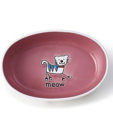 Silly Kitty White & Pink Saucer
