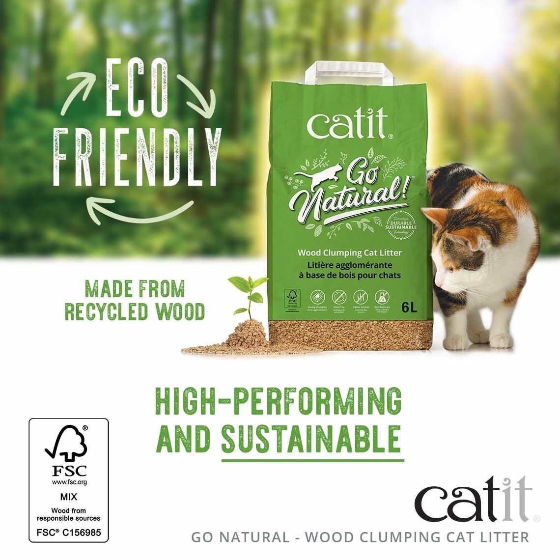 Catit Catit Go Natural Wood Litter 6 L