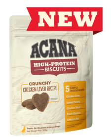 Acana High Protein Chicken Liver Biscuits Large 9 oz