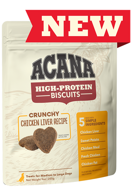 Acana (Champion) Acana High Protein Chicken Liver Biscuits Large 9 oz