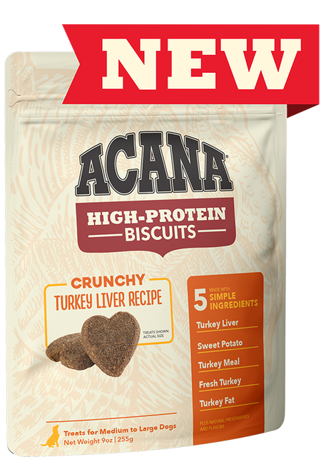 Acana (Champion) Acana High Protein Turkey Liver Biscuits  Small 9 oz