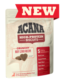 Acana High Protein Beef Liver Biscuits LG 9 oz